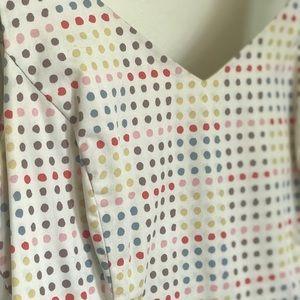 Boden polka dot A-line summer tea dress US8, UK12
